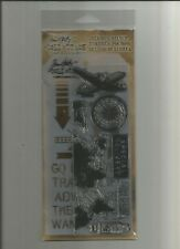 Tim Holtz Stampers Anonymous Stamps / Stencil THMM105 - Air Travel -#337