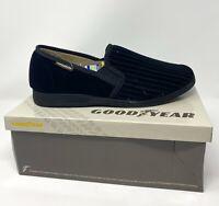 Black Goodyear Official License Calder Mens Comfort Memory Foam Slippers Warm