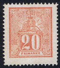 Sweden 1869 20 ore Red SG15a unused no gum Super well centered copy