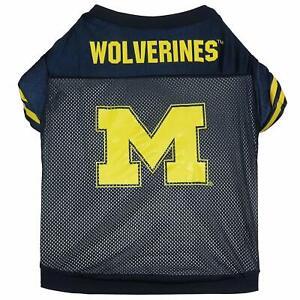 Sporty K-9 NCAA Michigan Wolverines Dog Jersey, Navy/Yellow