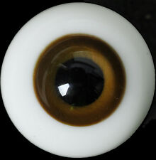 Nice DeepBrown Iris&Black Pupil 14mm Glass BJD Eyes for Joint 1/4 BJD Dollfie