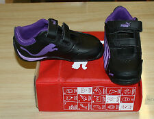 PUMA DRIFT CAT 4 V 3039800 INFANT SIZE 6 BLACK/PURPLE NEW IN BOX FREE SHIPPING