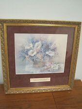 signed and numbered framed print by lena liu basket of calla lillies 2017/3300**