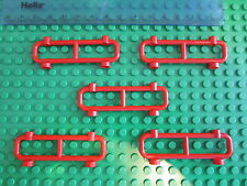 LEGO 5 x RED Fence / Gate for House, Garden or Railway Track Barrier