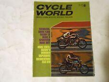 OCTOBER 1970 CYCLE WORLD MAGAZINE,BRIDGESTONE 350GTO,SUZUKI T500-111,FIRECRACKER