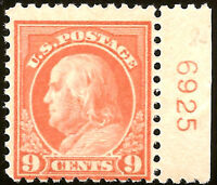 US Stamp #509 ~ MNH OG ~ Plate Number Single [PNS] ~ Always Free Shipping!!!