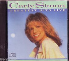 Carly Simon Greatest Hits Live CD Classic 70s 80s Pop Anthology You're so vain