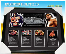 EVANDER HOLYFIELD 4 TIMES H/W WORLD BOXING CHAMPION SIGNED FRAME LIMITED 499 COA