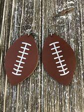 Football Leatherette Earrings