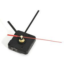 Hot Clock Quartz Movement Mechanism Replacement Part Set Red and Black Hands DIY