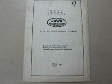 JAWA 350 CC TYPE 362 CALIFORNIA 4 OILMASTER SUPPLEMENT 1971