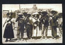REAL PHOTO MEXICAN BORDER WAR EXECUTION HANGING MEN MEXICO POSTCARD COPY