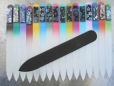 "Mont Bleu Czech 3 1/2"" Crystal Glass Nail File with Dichroic Glass Color Choice"