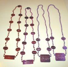 "Mardi Gras Necklace Metallic Las Vegas Total Rewards Casino Bead Lot/6 30"""