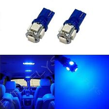 2x Blue T10 168 194 2825 W5W 5 SMD LED Dome Map Cargo 2xM2
