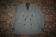 VINTAGE Polo Ralph Lauren Gray Nailhead Wool Double Breasted Suit 40 S