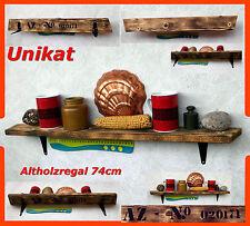Wandregal Regal Brett Holzregal Regale altes Holz antik Küchenregal Altholz 74cm