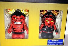 Disney Marvel Vinylmation Red Hulk & Red She-Hulk Le 1500 + Mystery Gift