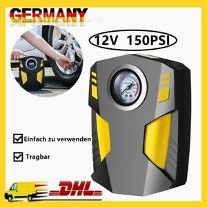 12V Akku Elektrische Luftpumpe Auto Reifen Druckluft Fahrrad Kompressor 150PSI