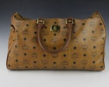 Authentic Vintage MCM Brown Logo Canvas Small Duffle Doctor's Hand Bag NR BTM