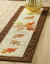 Autumn Leaves Skinny Table Runner Quilt Pattern Pieced/Applique CV
