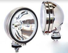 2 x H3 160mm Offroad Zusatz Arbeits Scheinwerfer Chrom Licht Lampe Fernlicht
