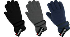 Boys Thinsulate Thermal Lined Fleece Gloves Childrens Kids Winter Warm