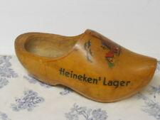 Vtg. Promotional Heineken German / Dutch Lager Beer Hand Painted Wooden Shoe
