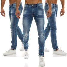 Vaqueros de hombre pitillos azul 100% algodón