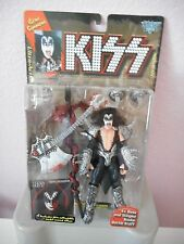 Brand New 1996 KISS Gene Simmons Figure w/Solo lp cover picture         Sealed