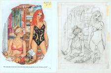 Doug Sneyd Signed Original Art Pencil Prelim Gag Rough Playboy Cartoon Dec. 2013