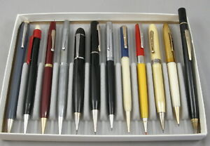 12 Vintage 1940-60's Excellent 1.1mm & 0.9mm Mechanical Pencils - Made In USA