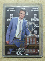 13-14 UD SPA SP Authentic Moments Auto Gold Ink Calder Trophy JONATHAN HUBERDEAU
