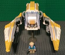 Custom Lego Star Wars Human Girl with Yellow and White courier/Speeder