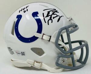 "PEYTON MANNING Autographed ""HOF 21"" Indianapolis Colts Mini Helmet FANATICS"