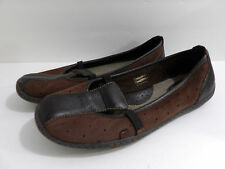 Boc Born Womens Brown Suede Leather Ballet Flats Slip on Shoes Size 9.5 M