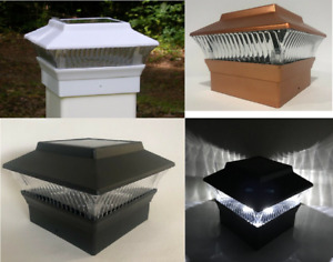 """2/4/6/8/12-Pc Square Solar Post Cap Lights Fence Mount (Only for 4""""x4"""" Posts)"""