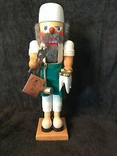 "Vintage Holzkunst Christian Ulbricht 15"" Wood Nutcracker Dentist West Germany"