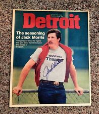HOF Jack Morris Signed Cover DETROIT Magazine  April 22,1984