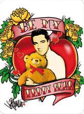 Elvis Presley Teddy Bear Blechschild 8x11 cm Blechkarte Sign PC-201/553