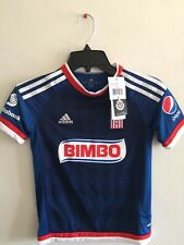 Adidas Guadalajara Away 2015-16 Soccer Jersey Navy White Red Size YS Boy's Only
