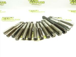 """LOT OF 14 ASSORTED HSS TAPS 1/2""""-13NC TO 3/4""""-10NC HWCO W&S"""