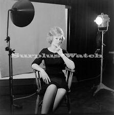 B/W 6x6 Negative x4 1950s 1960s Pretty Girl Actress? ref c14