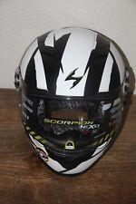 SCORPION EXO-500 THUNDER Casque Moto Integral Blanc et noir L 60 cm