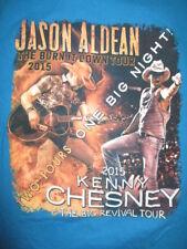 """2015 Kenny Chesney & Jason Aldean """"Burn It Down"""" Concert Tour (Lg) T-Shirt"""