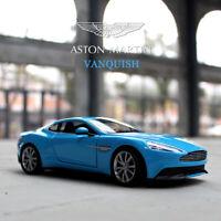WELLY FX Series 1/24 Die-Cast Metal Model for Aston Martin Vanquish Blue Car New