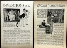 """Joe Cook 1931 vintage pictorial """"Fine and Dandy"""" Broadway musical comedy"""