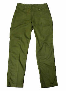 BRITISH ARMY - Lightweight Olive Green Trousers Service Uniform Combat Surplus