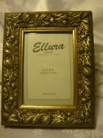 """Ellura Collection Division of Dioni Photo Frame Gold/Green~Made USA 3.5""""x 5"""" 396"""