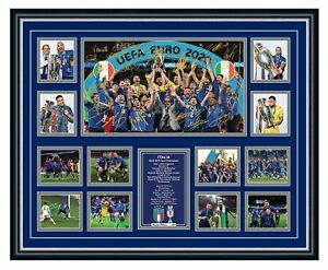 ITALY EURO 2020 2021 CHAMPIONS SIGNED POSTER LIMITED EDITION FRAMED MEMORABILIA